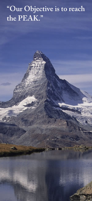 Matterhorn graphic - Take opportunity to the Market versus waiting for the Market to provide opportunity.