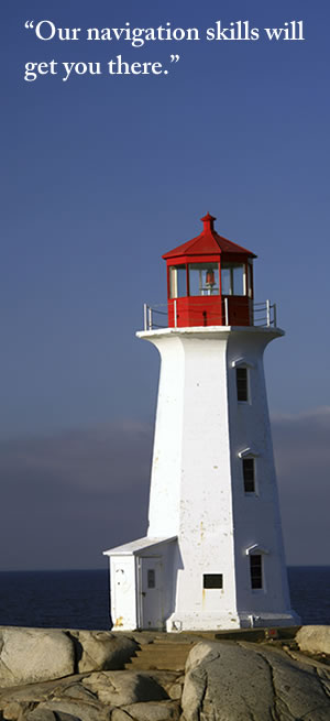 Lighthouse graphic - Take opportunity to the Market versus waiting for the Market to provide opportunity.